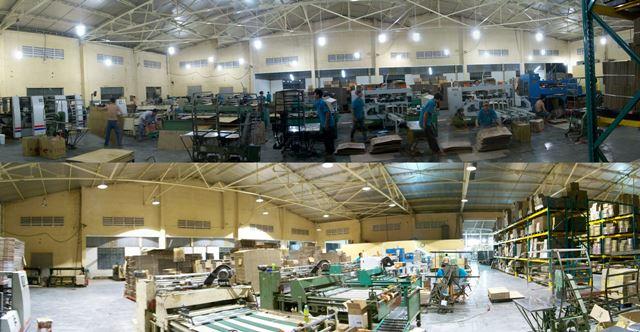 Đèn LED nhà xưởng 50W nhà máy bao bì Vĩnh Xuân