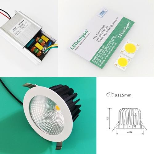 đèn led dowlight 32w