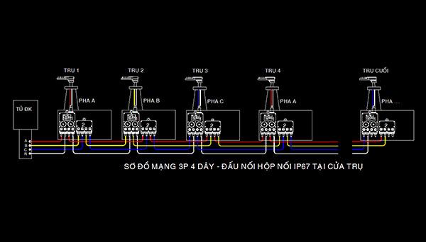 hộp đấu nối ip67 cho đèn đường LED 120W 5 cấp công suất