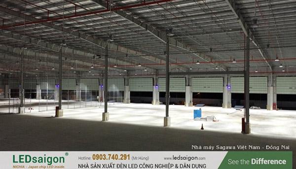 Nhà xưởng sử dụng LED Highbay 150W khi hoàn thành